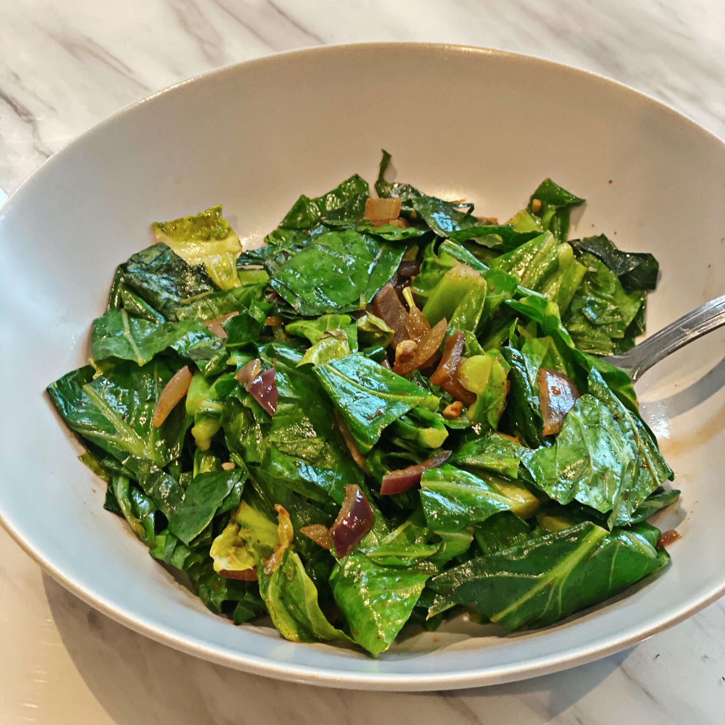 quick stir fried greens