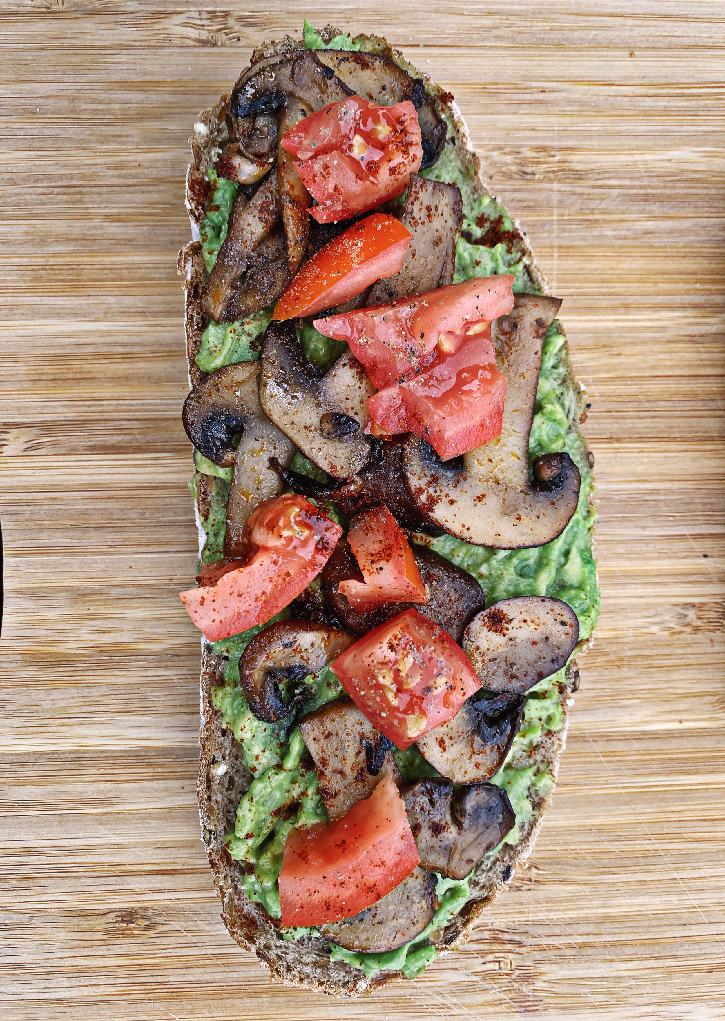 vegan mushroom avocado recipe