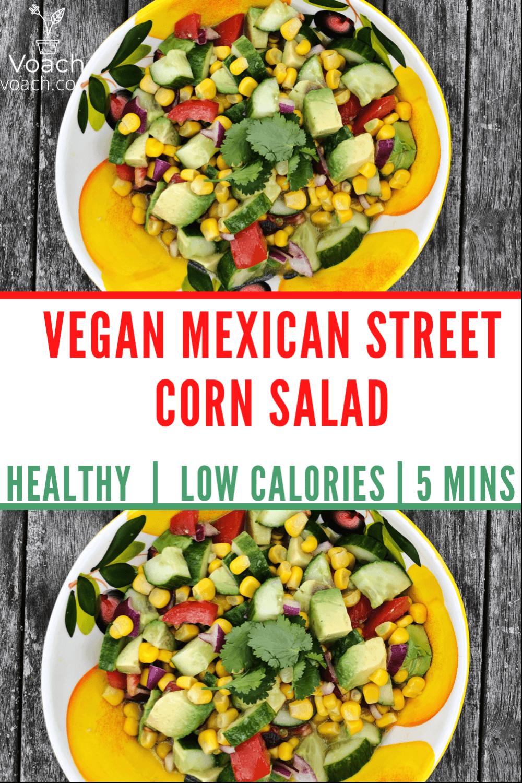 healthy vegan corn salad