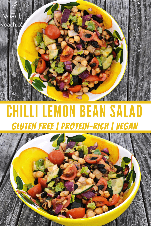 chilli lemon bean salad recipe