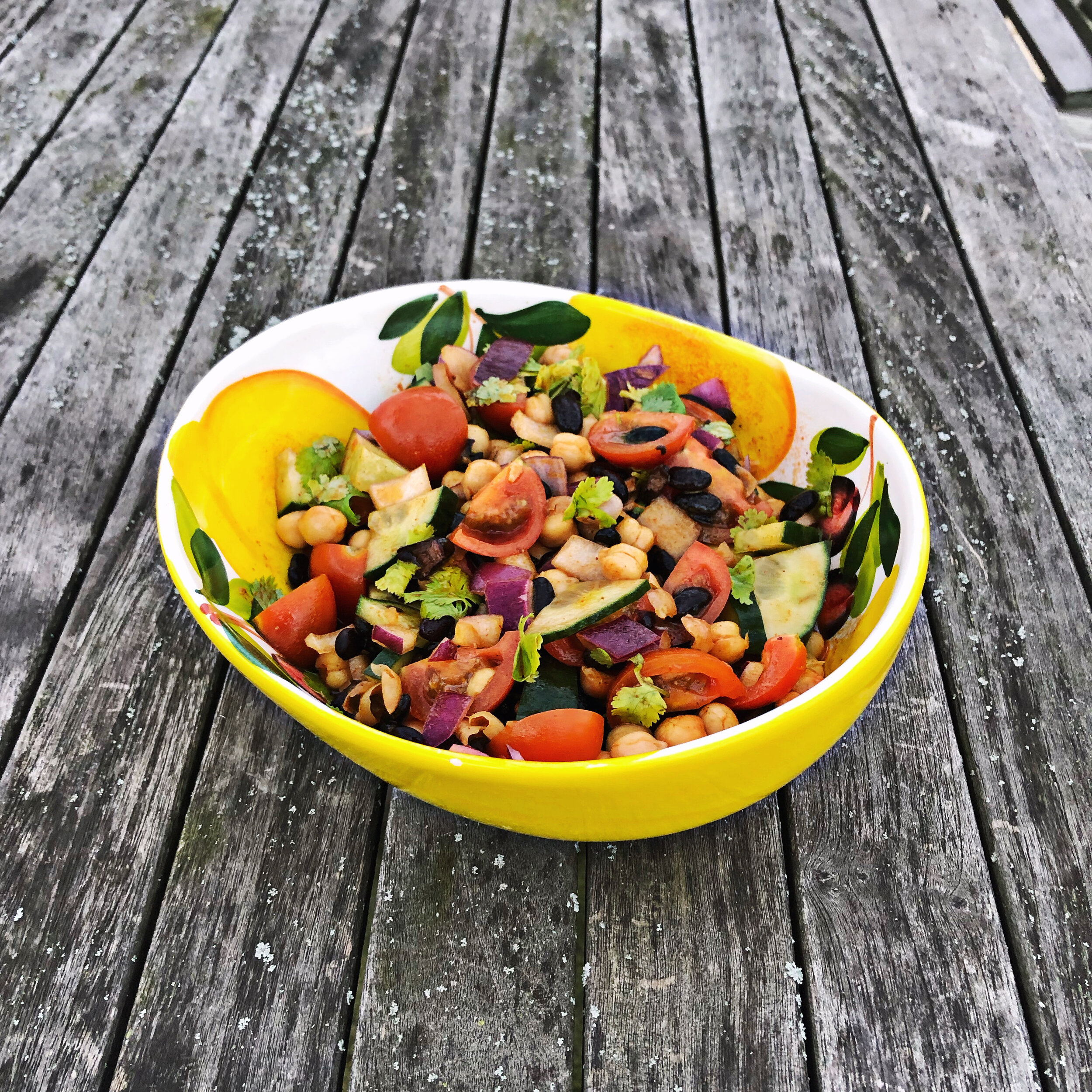 excellent source of plant protein in vegan salads