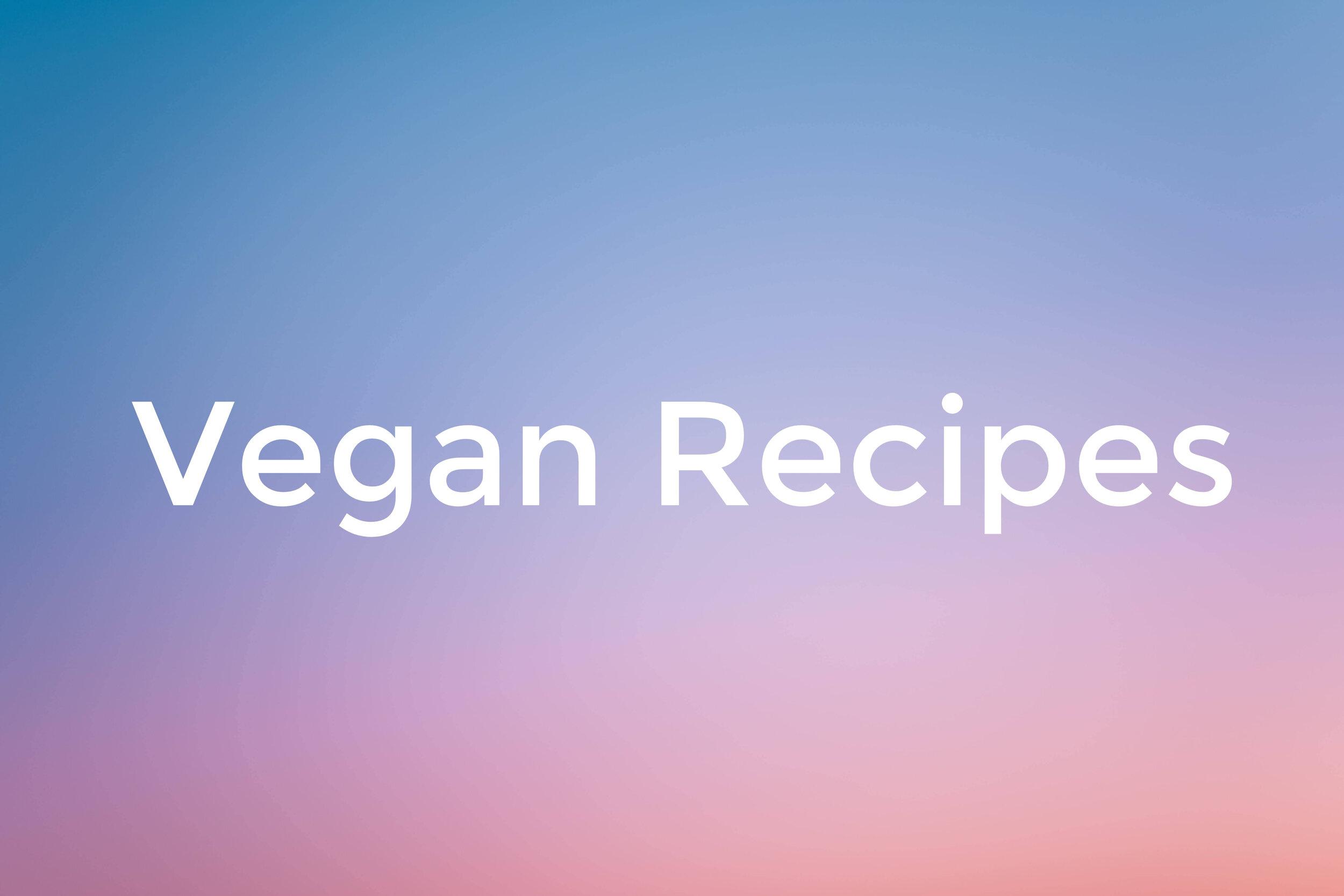 vegan recipe blog