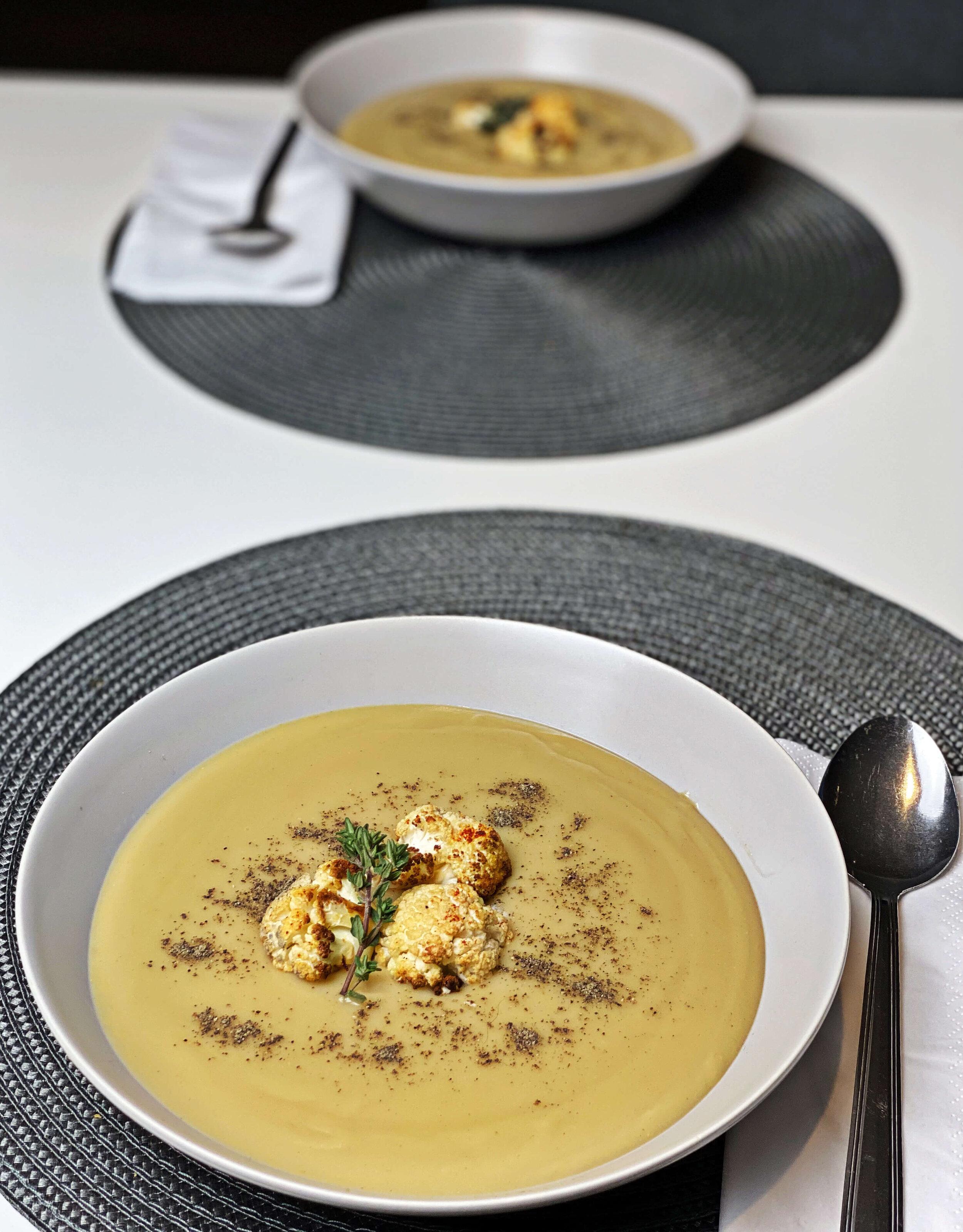low fat cauliflower soup recipe