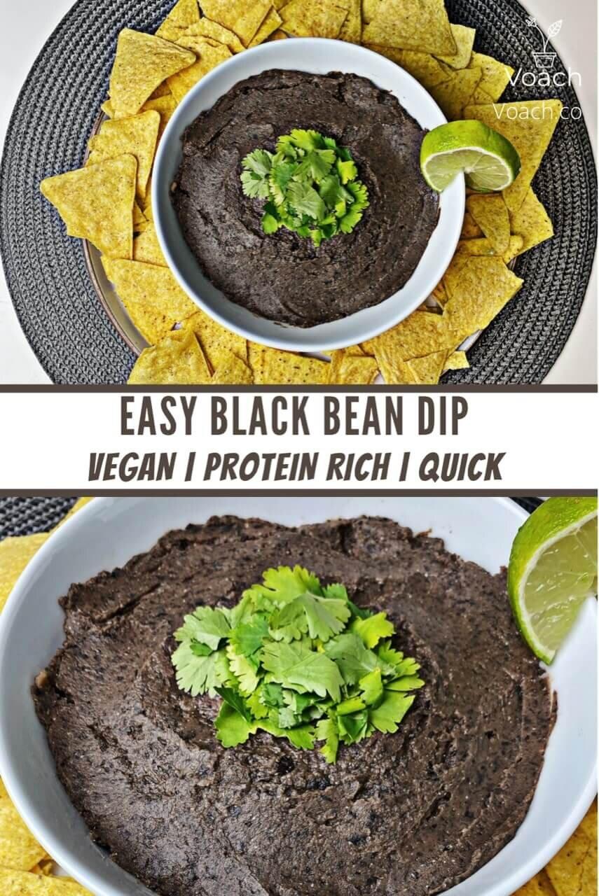 Easy Black Bean Dip Voach The Vegan Coach