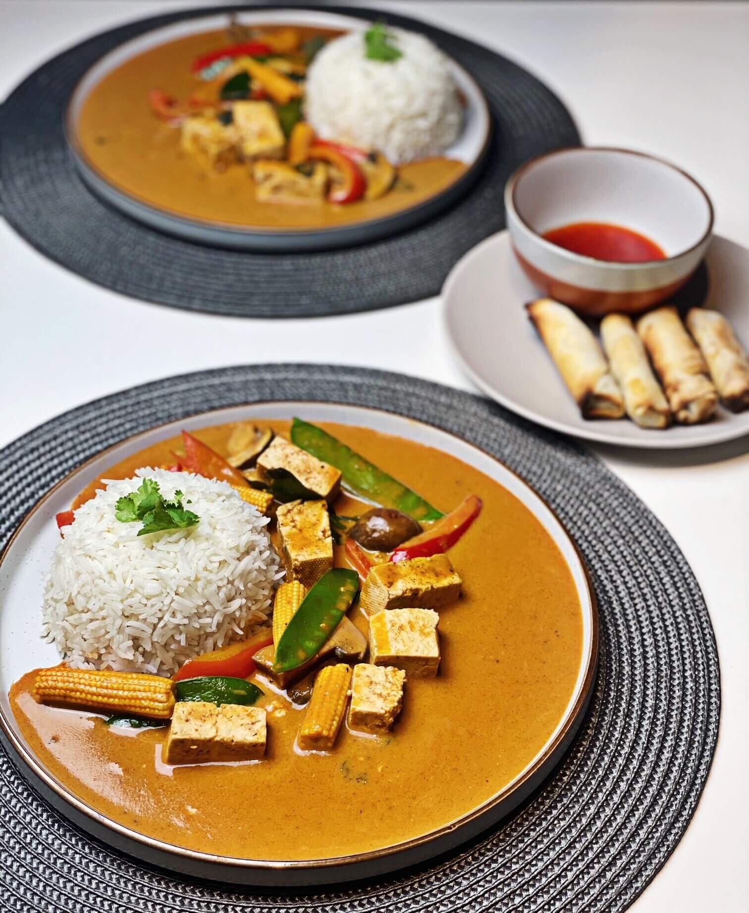 vegan thai red curry recipe with tofu