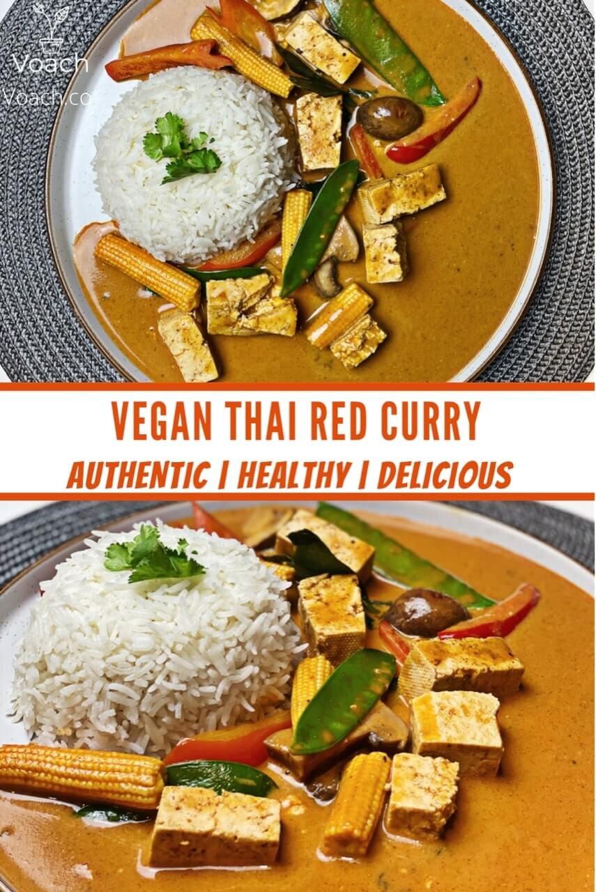 authentic vegan thai red curry