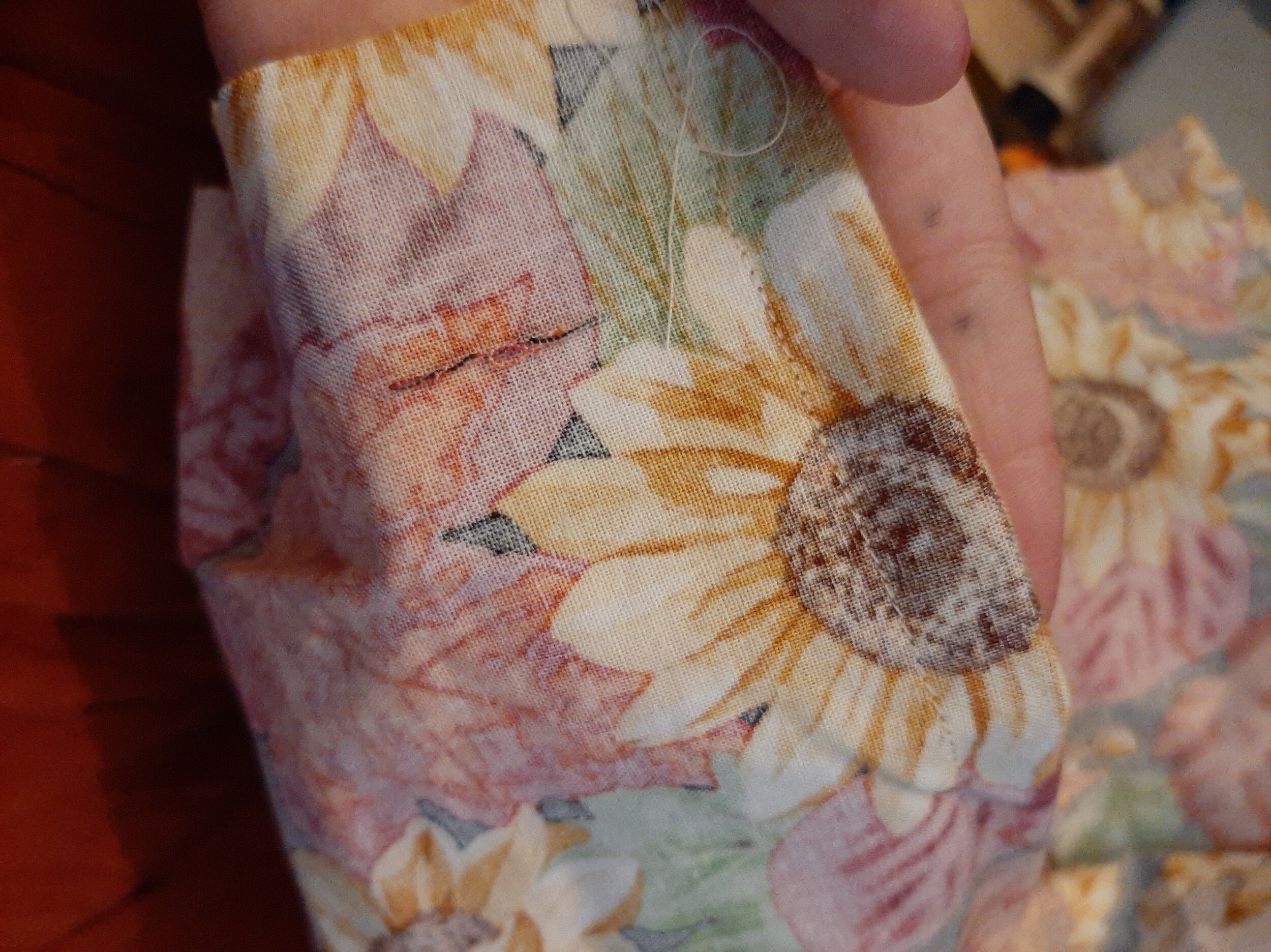 Sewn again, right sides together at 1cm.