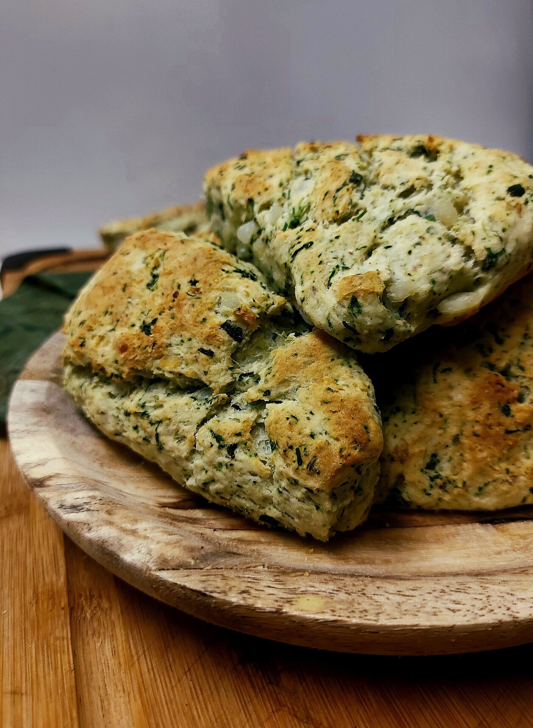 Stinging Nettle Potato Biscuits