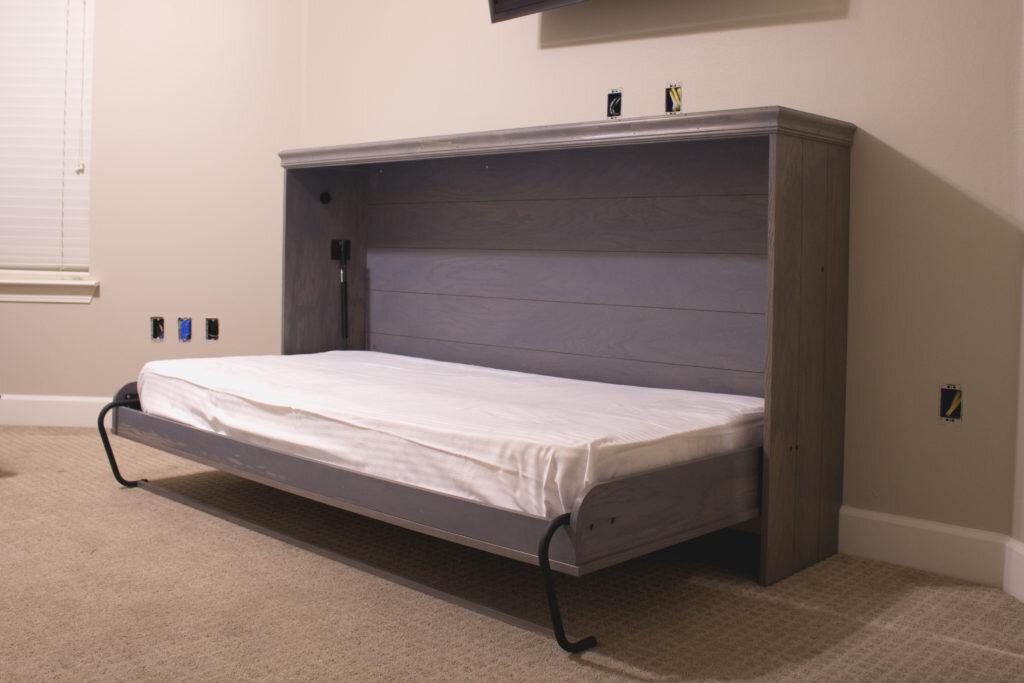 Diy Horizontal Murphy Bed Woodbrew, Twin Size Deluxe Murphy Bed Hardware Kit Horizontal