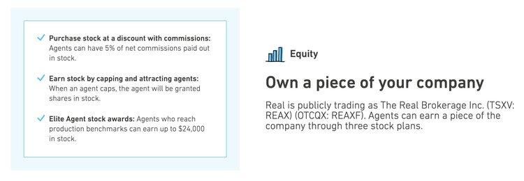 REAL Brokerage llc stock program.jpeg