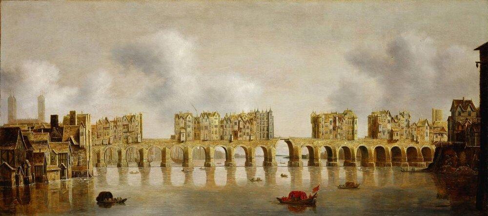 Old London Bridge from the West  (Claude de Jongh:  Source )