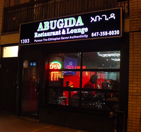 Abugida Ethiopian Restaurant - Chaltu Wordofa Deti and Elsabete Shamebo1393 Danforth Ave Toronto, ON(647) 358-6030info@abugida.ca