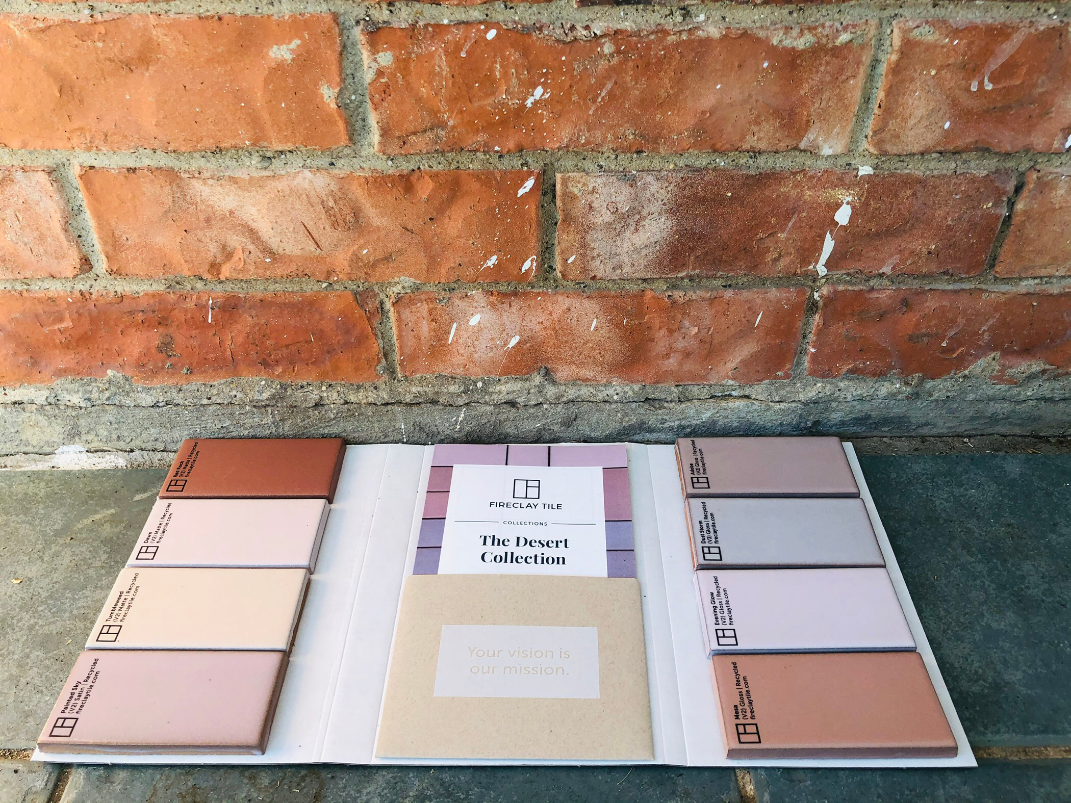 Fire Clay Tile Samples