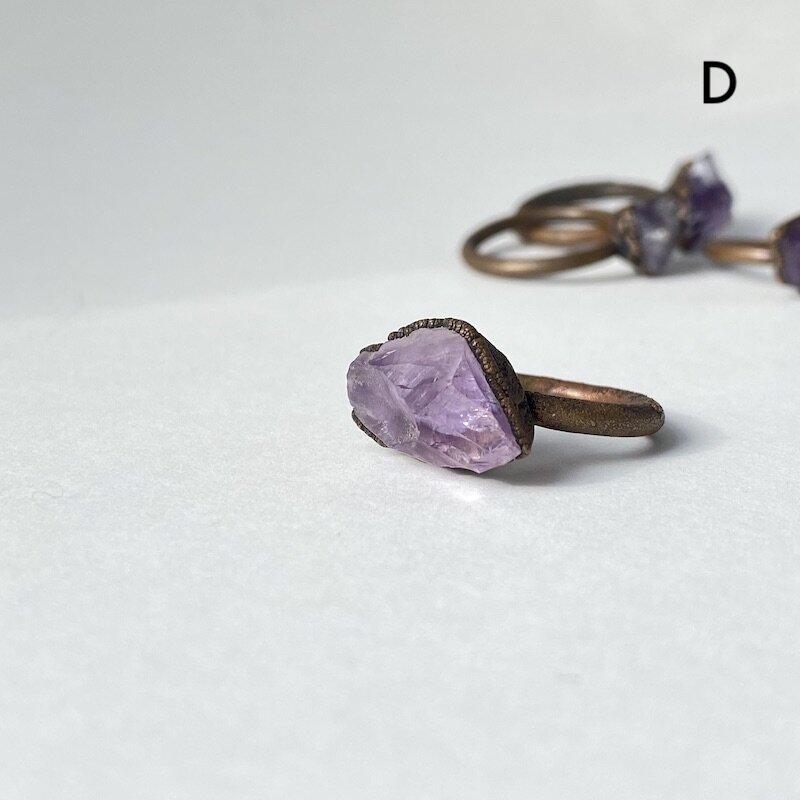 Raw Amethyst Jewelry Raw Amethyst Statement Ring Electroformed Copper Jewelry Rustic Birthstone Jewelry February Birthstone Ring
