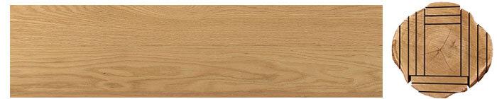 Flat sawn cuts