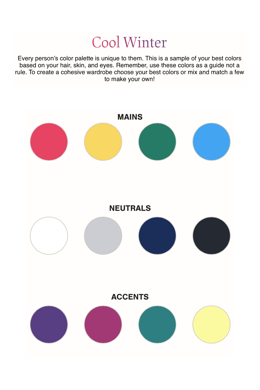 How To Create Your Personal Color Palette Free Color Quiz