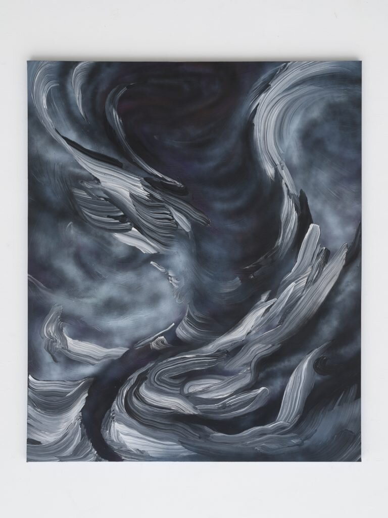 Manny Castro.  Turbulence , 2021. Oil and acrylic on canvas. 72 x 60 inches.