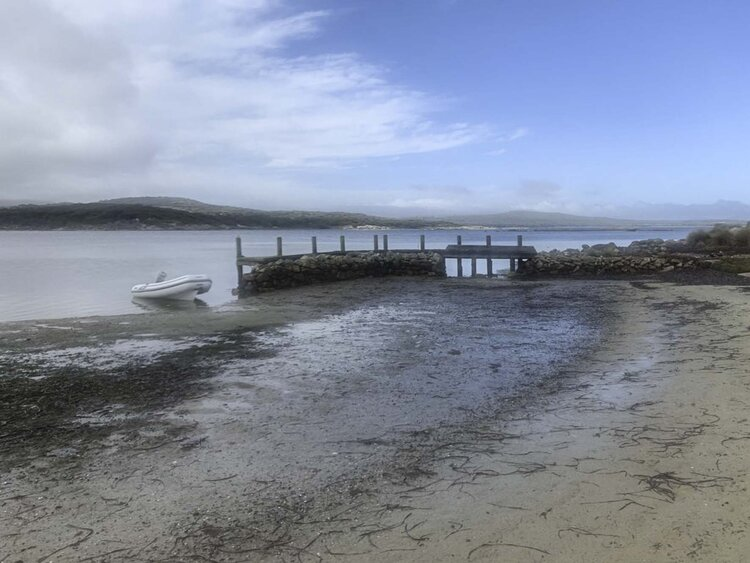 The jetty at Puncheon Head Island.
