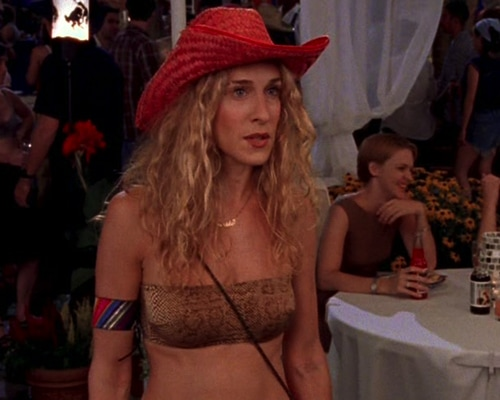 Sarah Jessica Parker in Sex and the City (1998).
