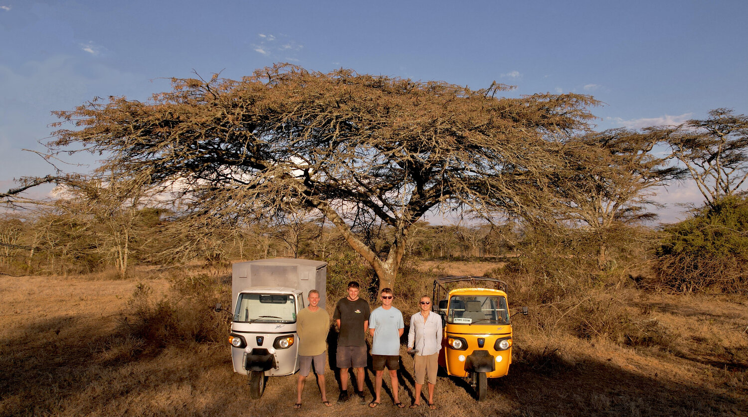 The #TukSouth Crew - The Tuk South crew are driving from Kenya to Cape Town raising money #ForRangers
