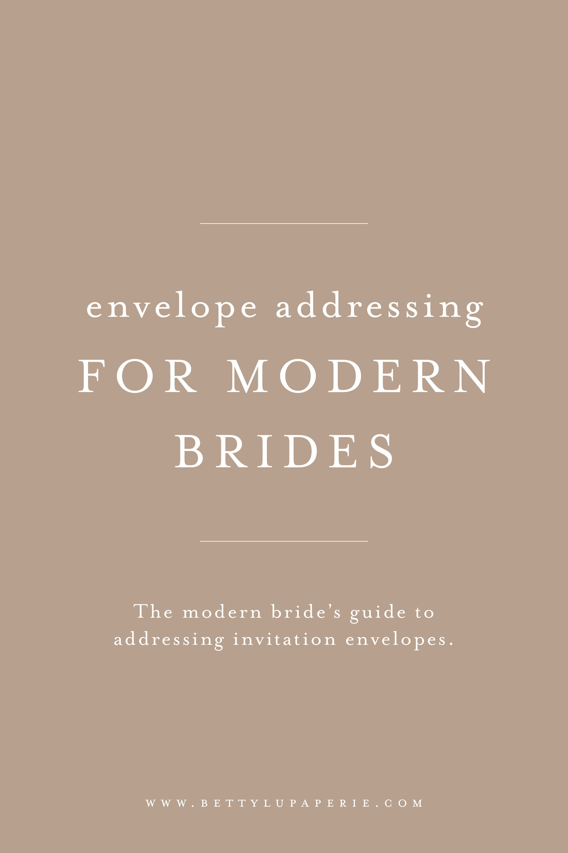 How To Address Wedding Invitations For Modern Brides Betty Lu Paperie