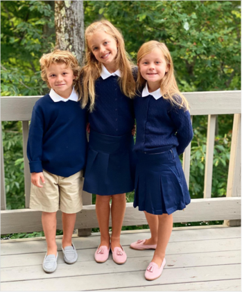 Jack, Kendal and Scarlett loving Catholic school life in Vermont!