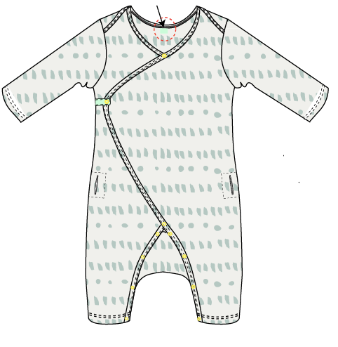 The Georgie is a patent pending pediatric gown we developed with Georgia's medical team at Boston Children's Hospital