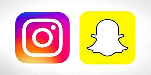 (左:Instagram、右:Snapchat)
