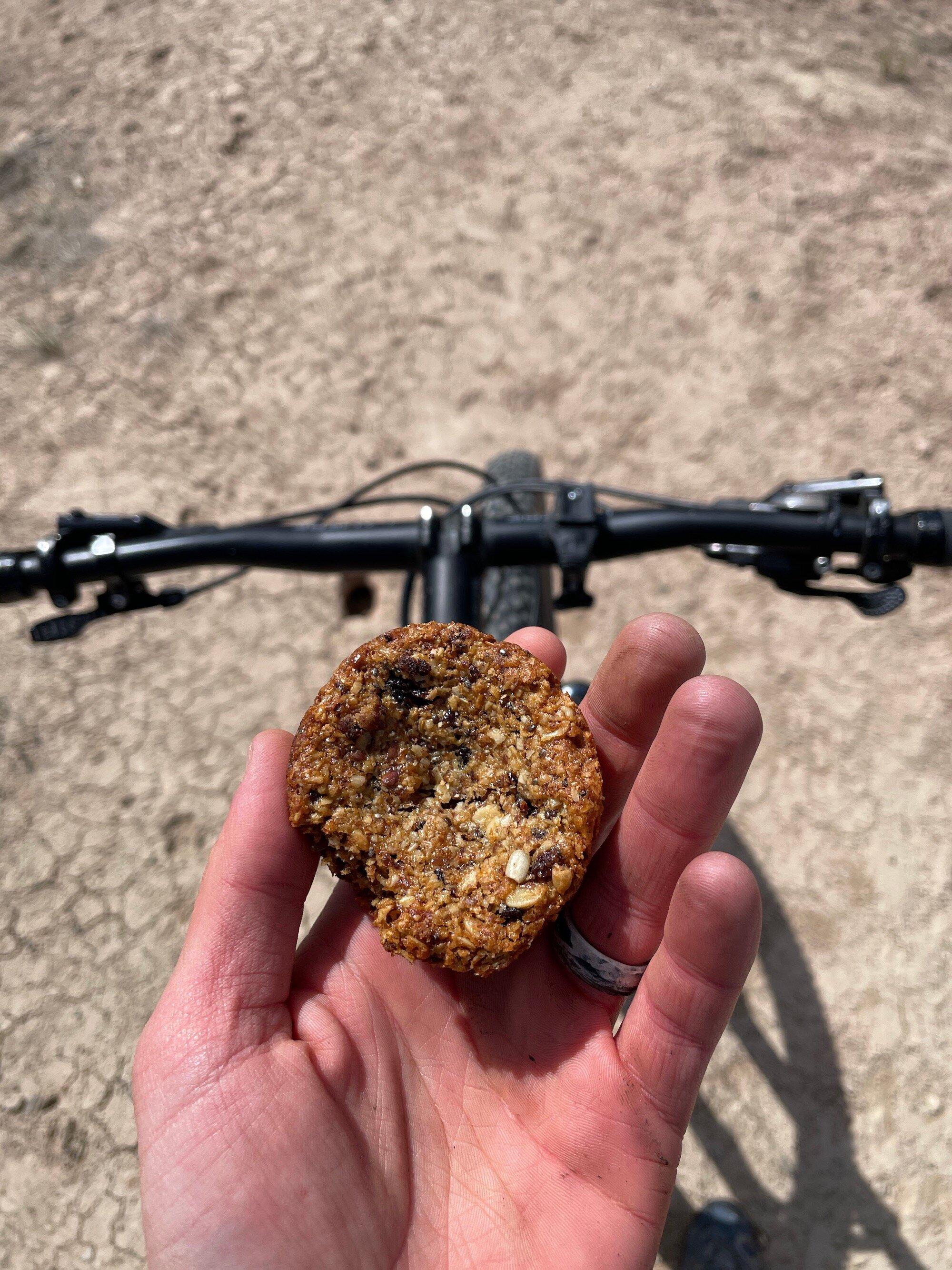 Enjoying an aussie bite on my bike in Eagle, CO