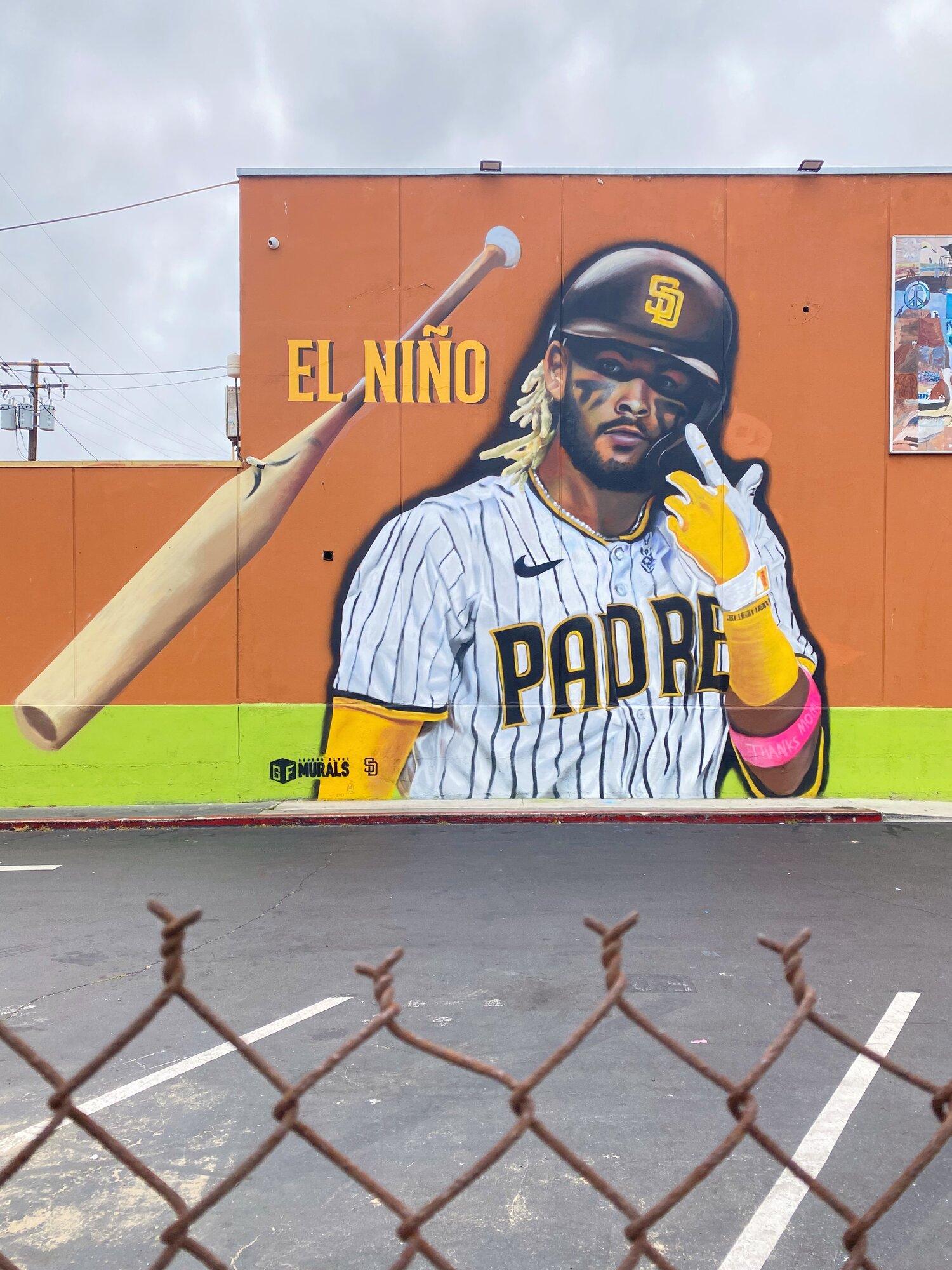 Mural of Fernando Tatís Jr. by Ground Floor Murals (Ocean Beach)
