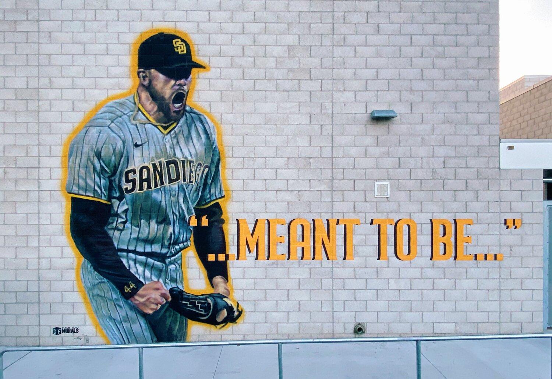 Mural of Joe Musgrove by Ground Floor Murals (Grossmont High School)