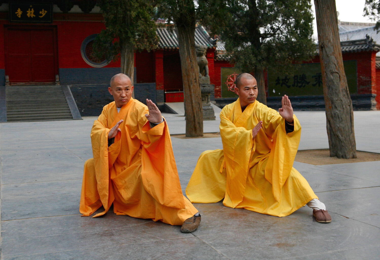 Grand Master Shi-Deru, my shifu, is on the left.