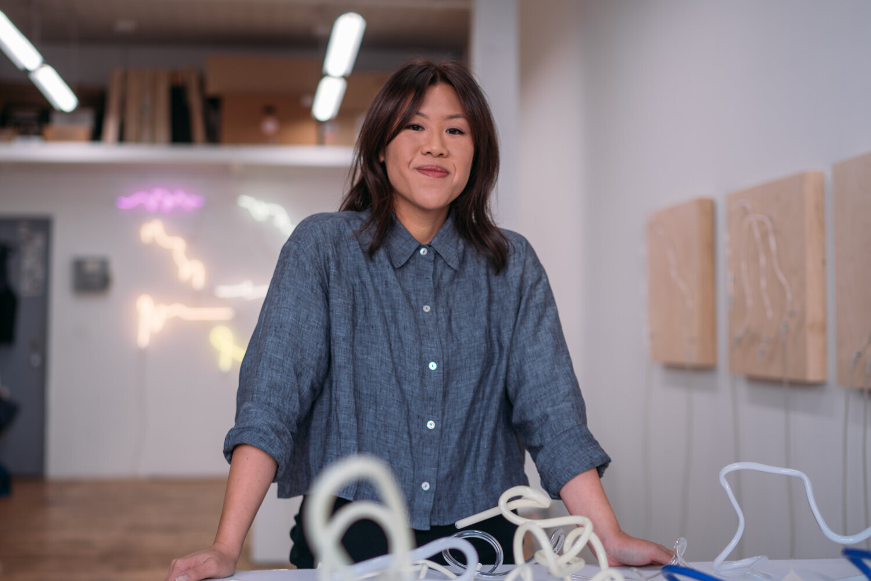 Annesta Le at her studio in Brooklyn.