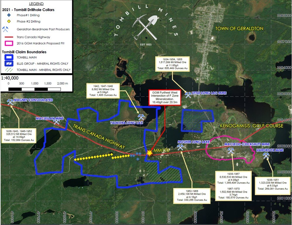 Map of Phase 1 and 2 Drilling Locations