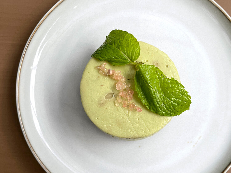 Of course, we could not end the evening before trying out at least 1 dessert and for this evening it was the avocado cheesecake with candy mint and finger lime. The cheesecake had the right texture and the tanginess from the finger lime and richness of the avocado was a unique interpretation of this classic dish.