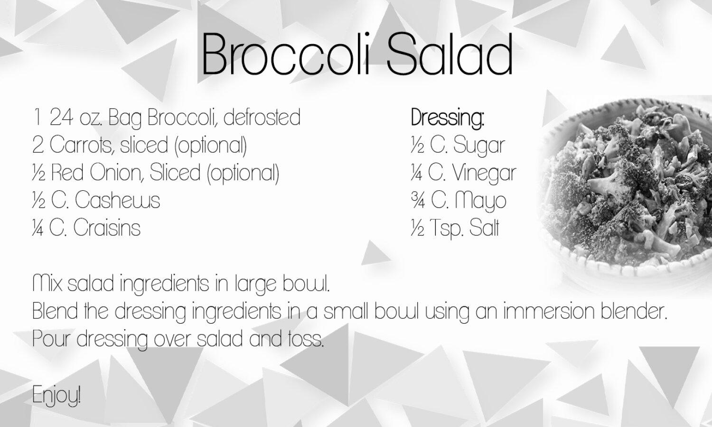 Broccoli Salad Grab N Go Meals 4u