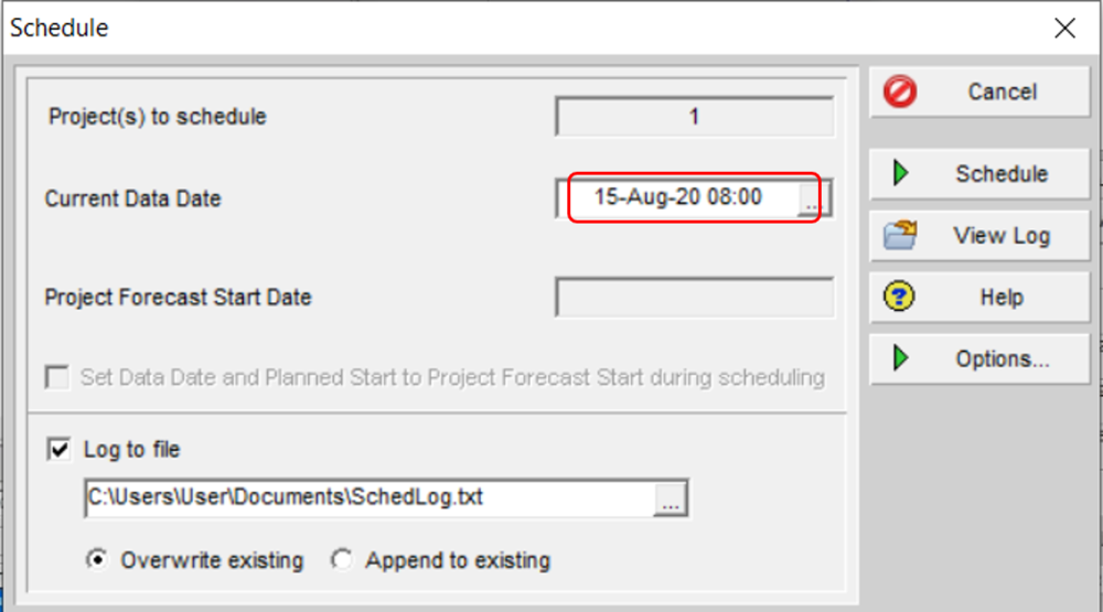 Data date time aligned to calendar start time