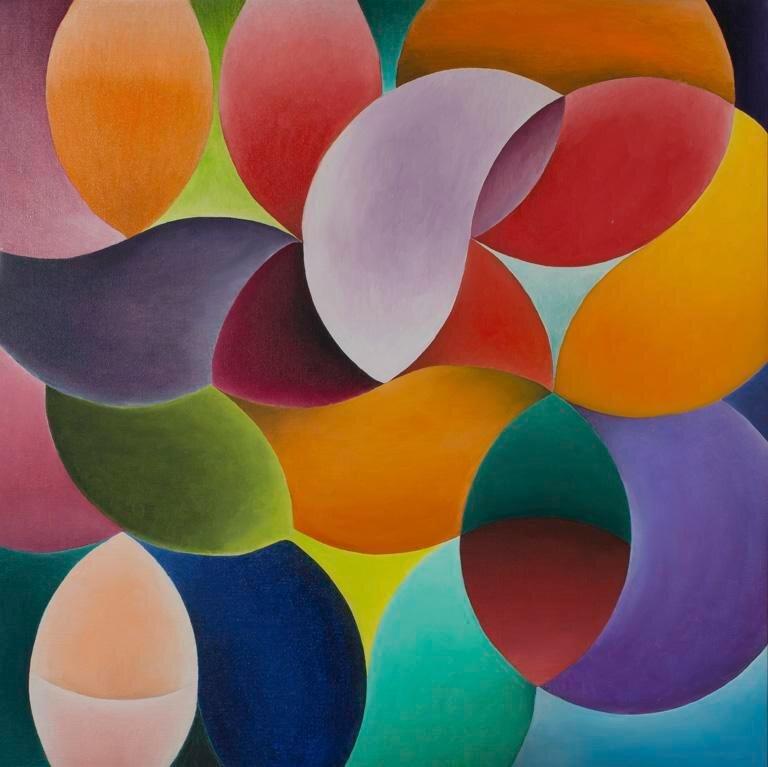 Siri Berg (1921-2000)  The Prime of Life , 1968, Oil on canvas, 28 x 28 in (71.1 x 71.1 cm) Collection  Herbert F. Johnson Museum of Art , Cornell University. Gift of Helen Mettler, Class of 1955 (81.031)