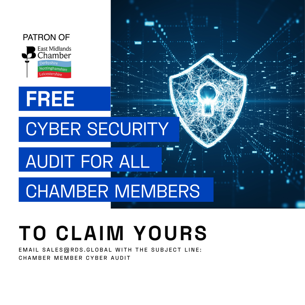 Are you a Chamber member? - As part of our ongoing sponsorship of the Chamber Connect networking event, we're offering all Chamber member's a free, comprehensive cyber security audit.