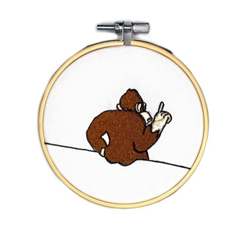 Fish Want Me Incredible Good Embroidery Hoop 4\u201d