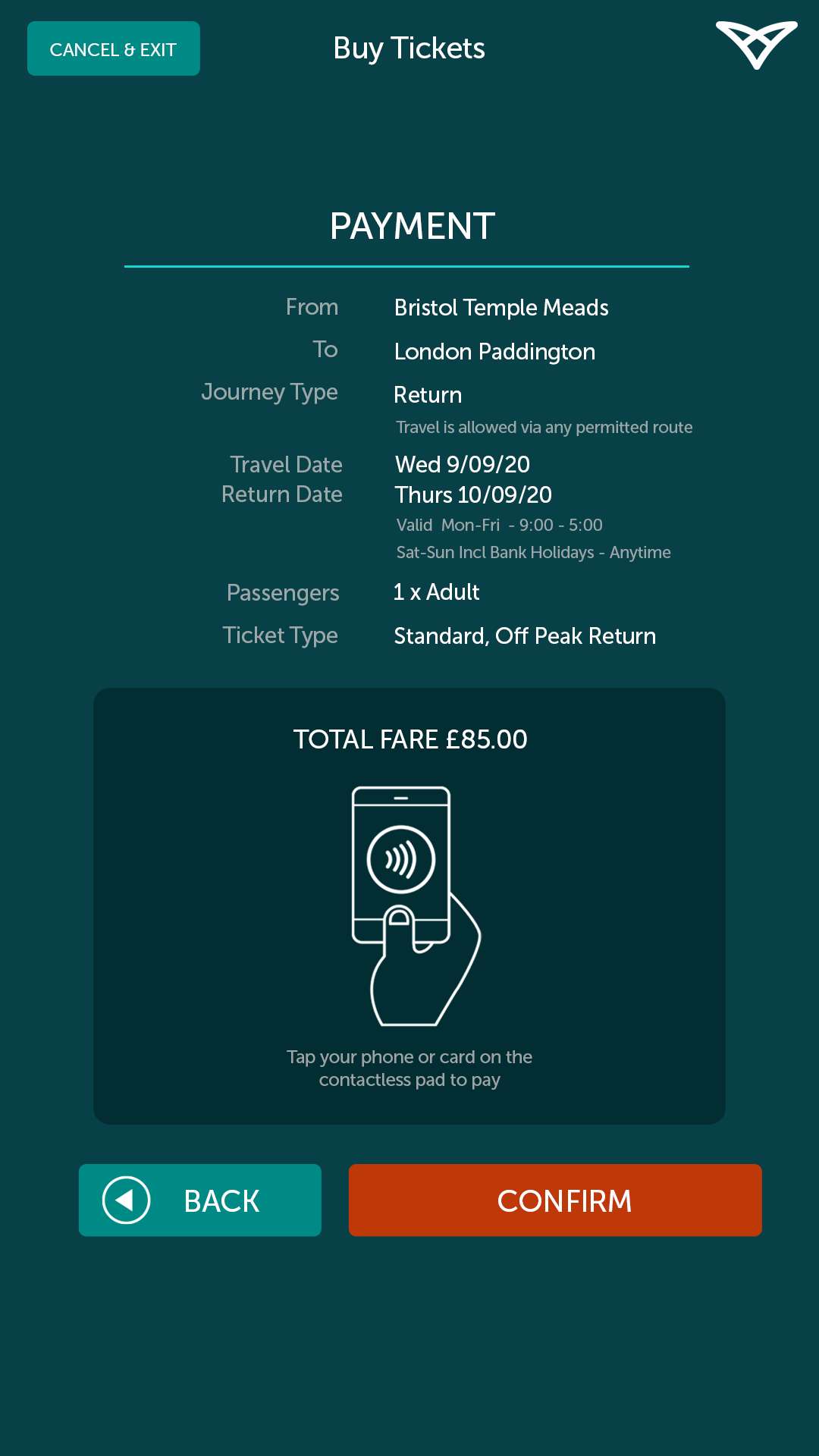 Touchless Train Ticket