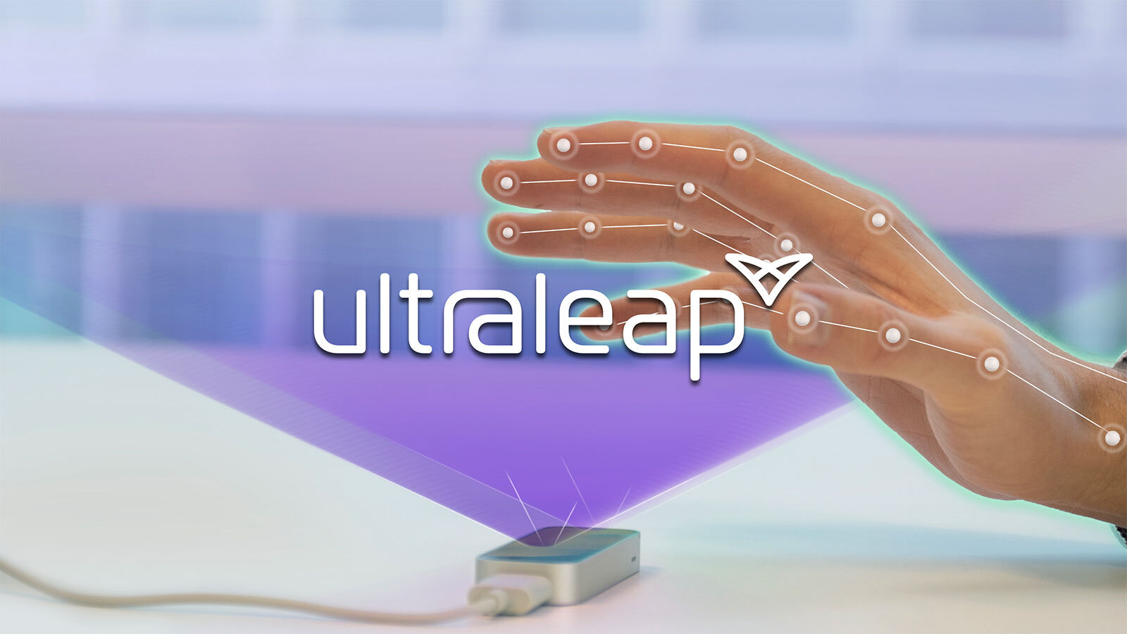 Ultraleap skeleton hand with Leap Motion Controller tracking