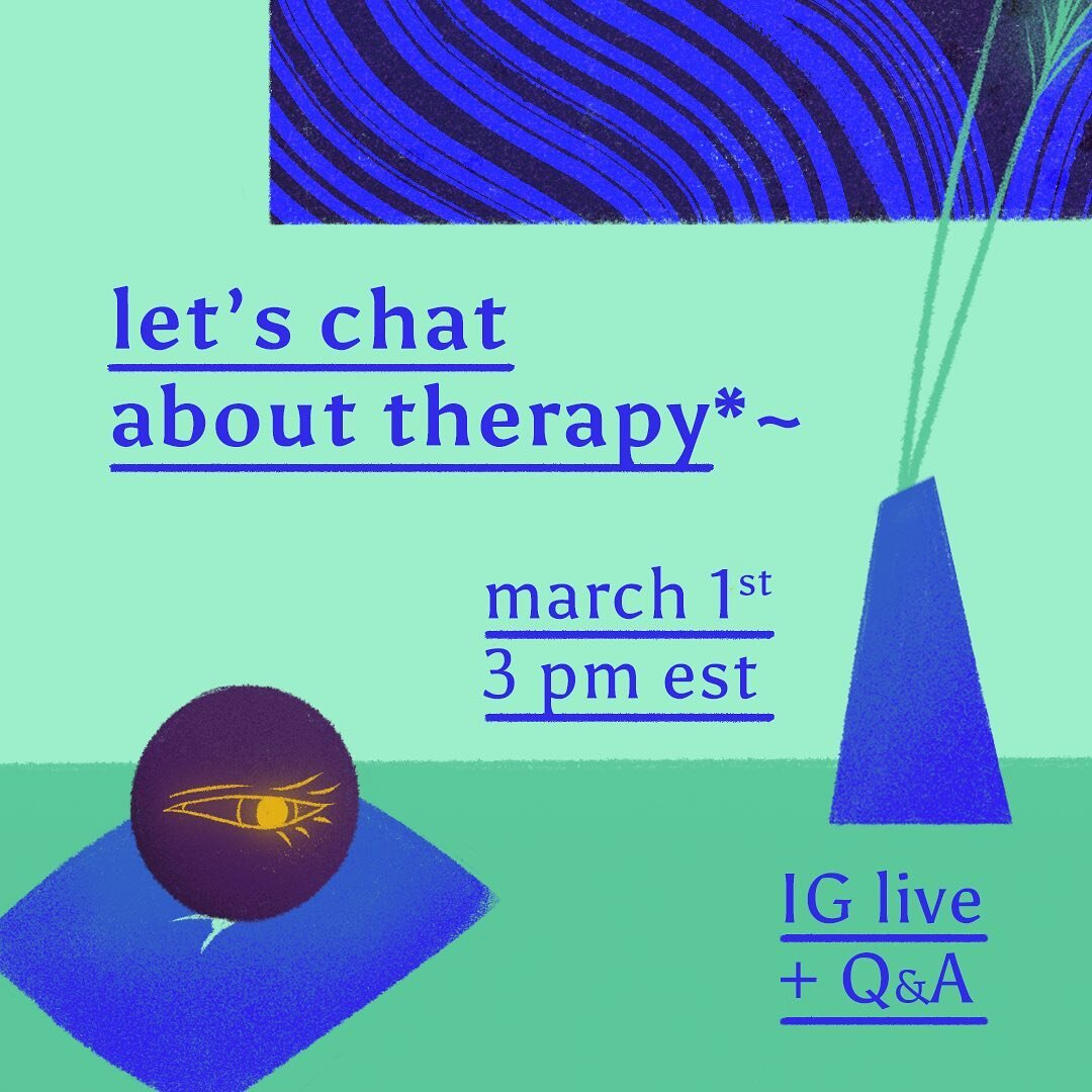 !!!!!! okokok so excited and nervous to be chatting live tomorrow about my therapy experience, what i've learned, and ending off with a Q&A 🌝 auspicious timing now that we're in pisces season hehe 💦  🍓 monday march 1 at 3 pm EST 🍓  This is an official invitation to come hang out with me, bring snacks, drinks, and comfy pillows. I hope to see you there!! 💕  💚 Replay will be available in IGTV 💚  #IGLive #therapy #piscesseason