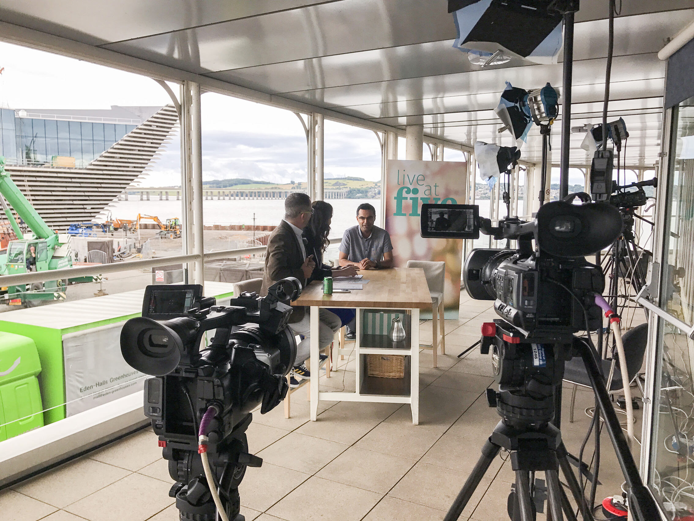 STV2 Live at Five - Behind the Scenes