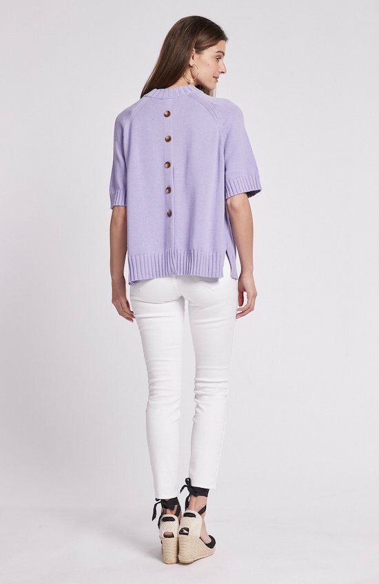 Cashmere Blend Button Back Sweater, $148.00