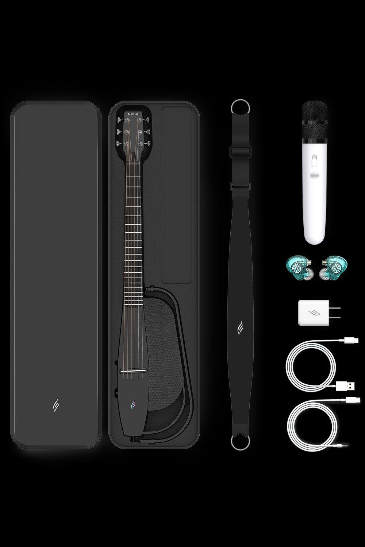 每個配件都不簡單 - NEXG隨琴配有專屬的配件:皮質琴盒、專業演唱會級別恩雅監聽耳機,直播/內錄/App拓展音頻線,30w快充充電/數據升級線,琴及琴盒兩用皮質背帶你所需要的,我們都想到了