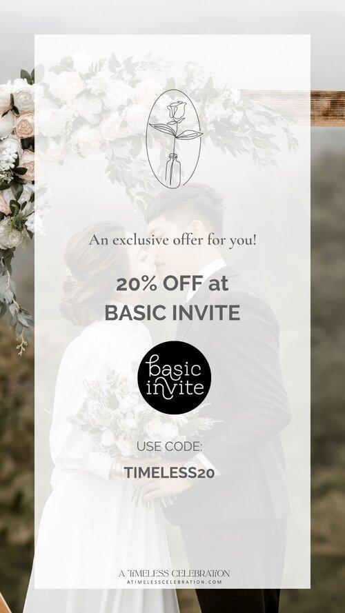 Basic Invite Wedding Invitations 20 Off Discount Code Montreal Invitation
